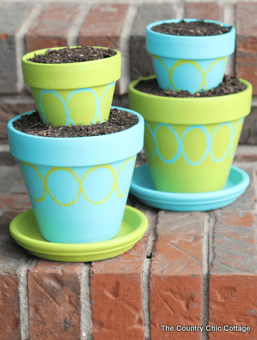 DIY Tiered Planter Pots with Patio Paint