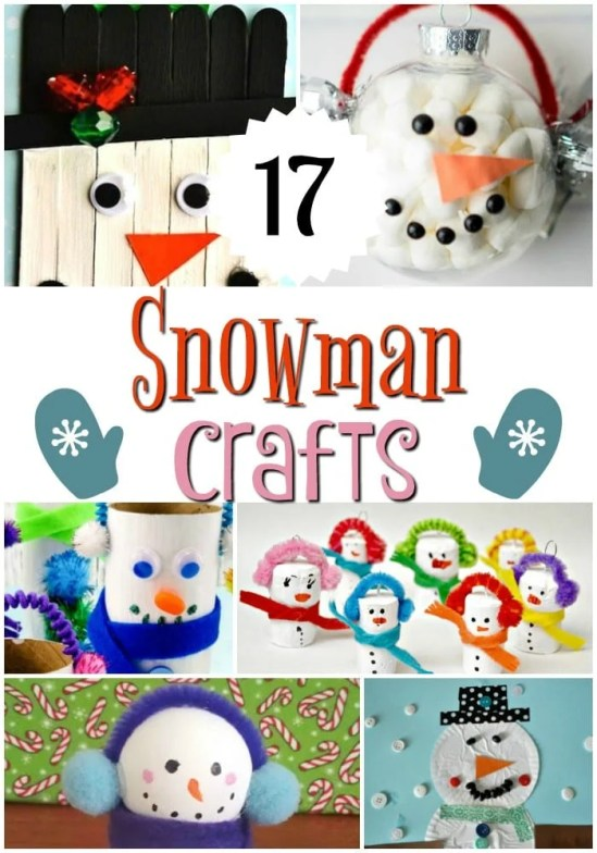 17 Snowman Crafts for Kids