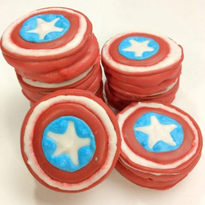 Avengers Captain America Oreo Cookies Recipe