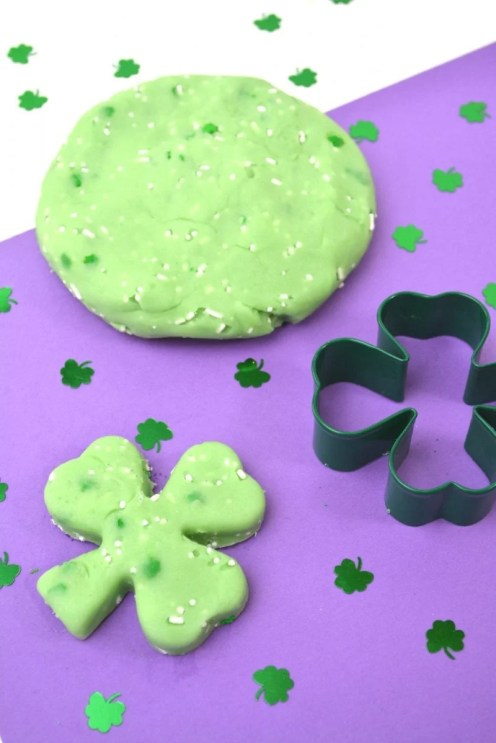 Edible St. Patrick's Day Jello Playdough