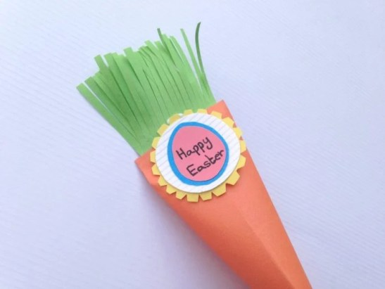 DIY Easter Carrot Treat Box Paper Craft