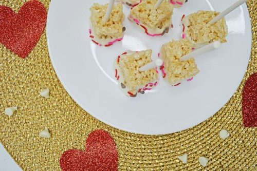 Valentine's Day Rice Krispie Pops Recipe