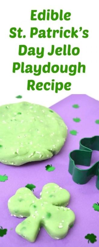 Edible St. Patrick's Day Jello Playdough Recipe