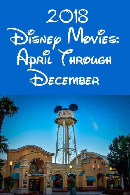 2018 Disney Movies - April Through December