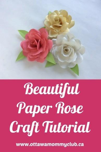 Beautiful Paper Rose Craft Tutorial