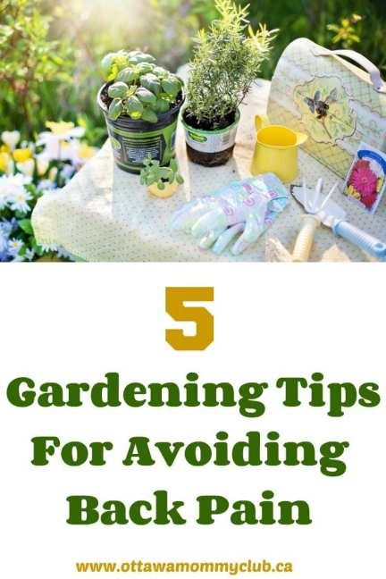 5 Gardening Tips For Avoiding Back Pain