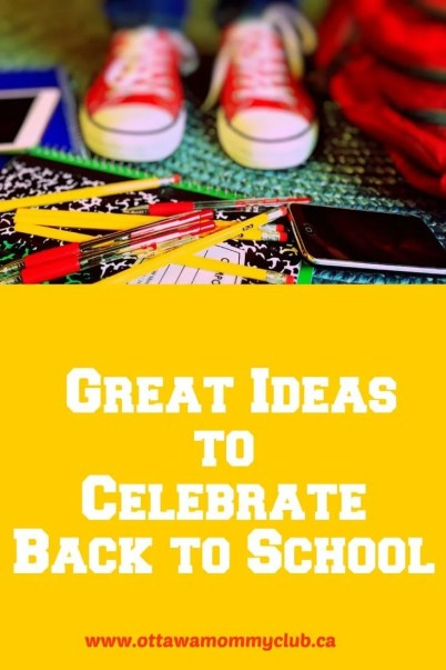 Great Ideas to Celebrate Back to School