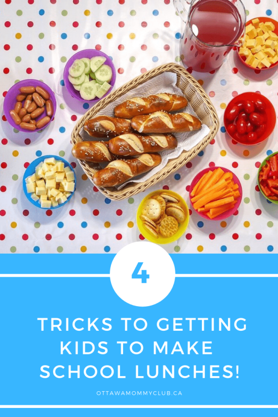 4 Tricks to Getting Kids to Make School Lunches!