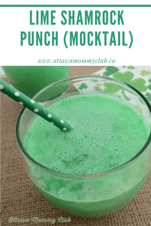 St. Patrick Lime Shamrock Punch (Mocktail)