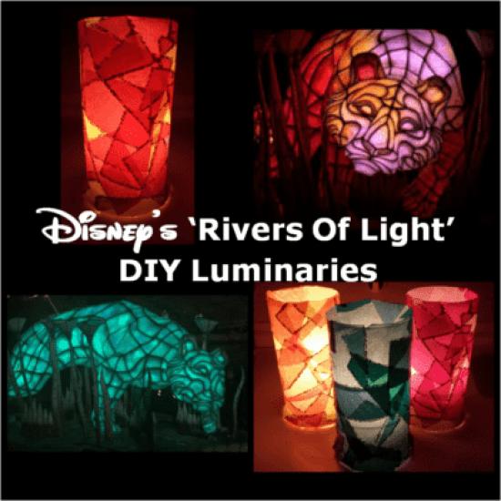 Disneys Rivers Of Light DIY Luminaries by Motherhood and Beyond.