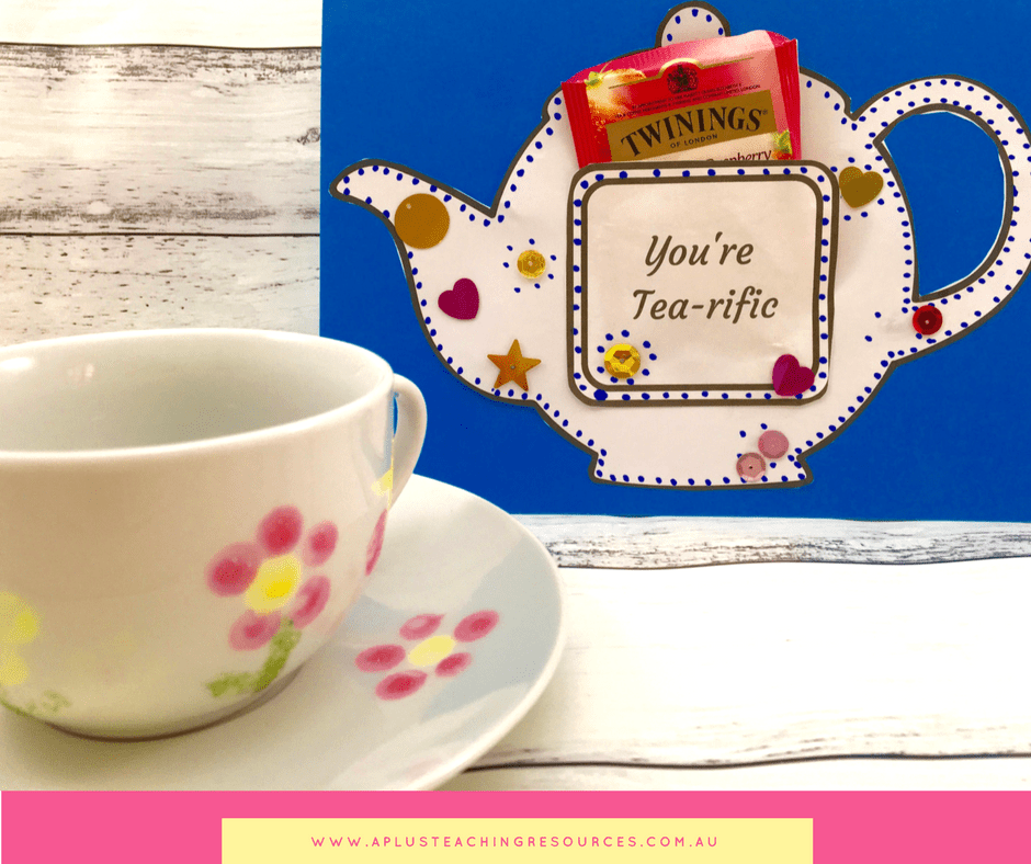 Mothers Day Teapot Card {FREE TEMPLATE}