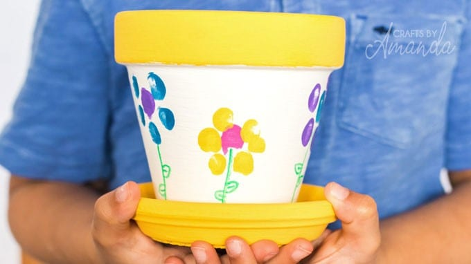 Fingerprint Flower Pots