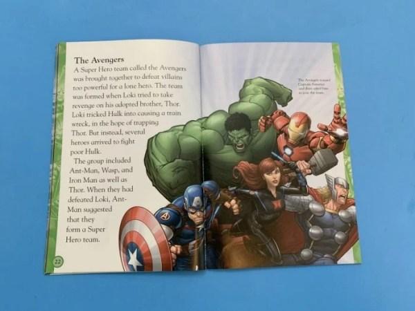 Inside of DK Canada Marvel book