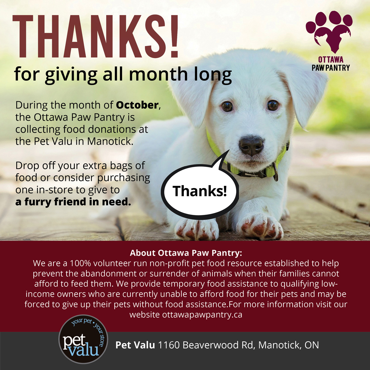 petvalu donations