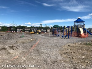 Devonian Park Splash Pad is still under construction