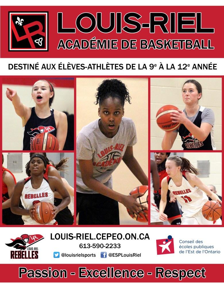 Basketball Académie Féminine page couverture