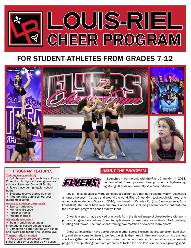 Cheer cover page