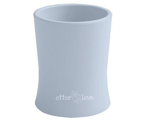 natural grip silicone baby cup tiny toddler training cup - cloud