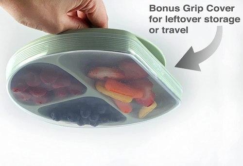 bonus grip cover for leftover storage or travel