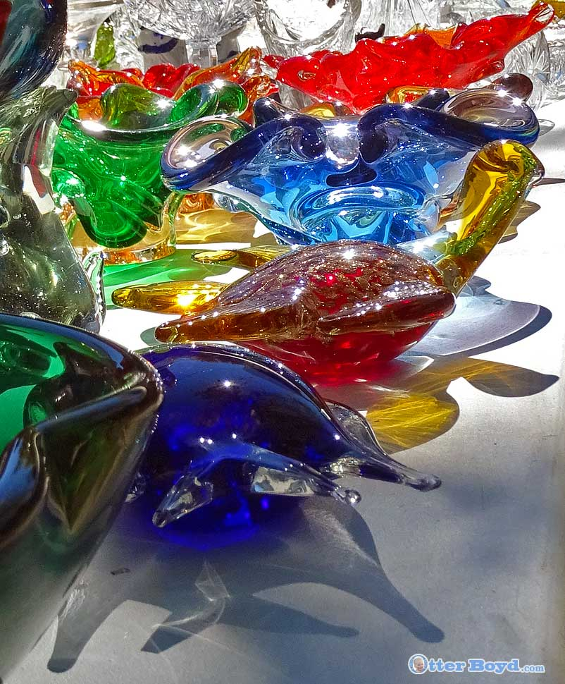 Colorful Glass and Shadows