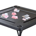 Folding Games table with cards