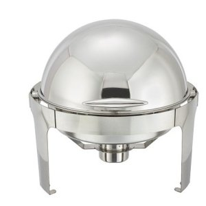 6 Qt Stainless steel Round roll top chafer