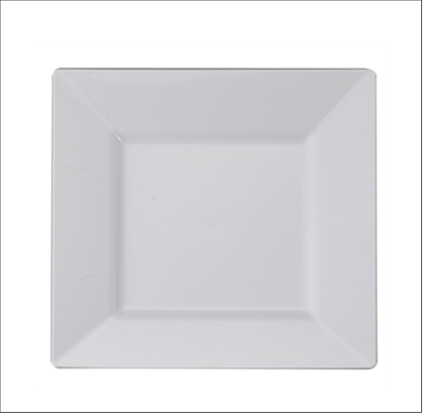 """8"""" Square China Dinner Plate"""