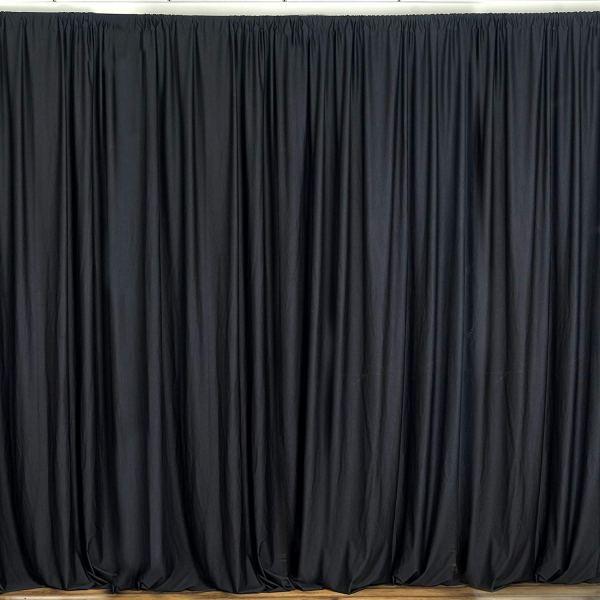 Black Cotton/Polyester Drapes