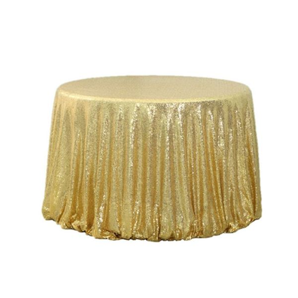 "132"" Round Sequin Table Cloth"