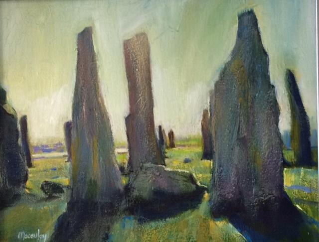 Callanish Stones Oil on Canvas