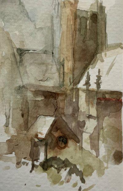 Crichton Study 1 13cm x 8cm unframed