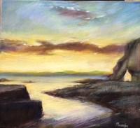Late Evening Easdale Oil on Canvas 56cm x 51cm