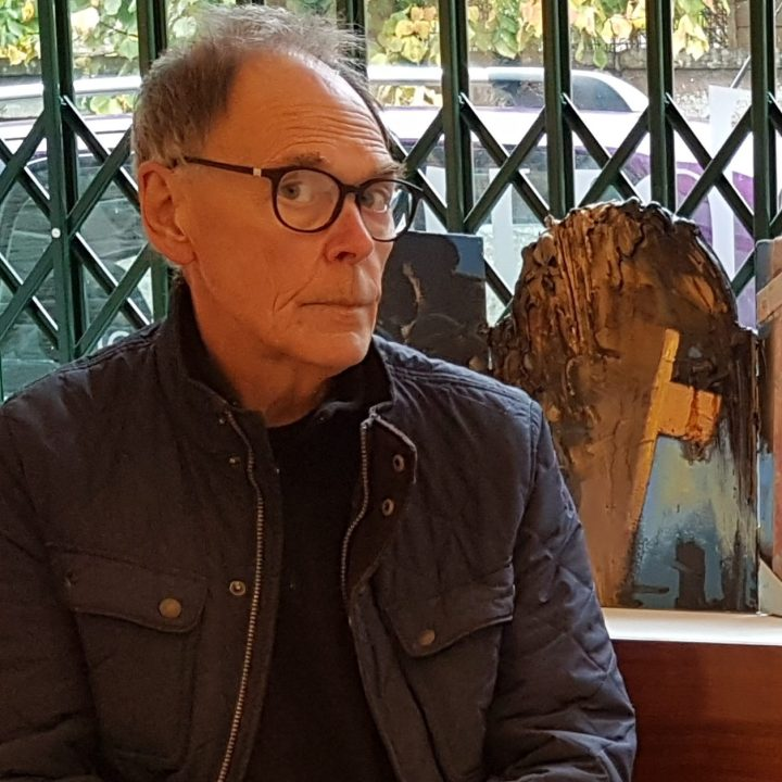 Tom Lindsay visiting Ottersburn Gallery