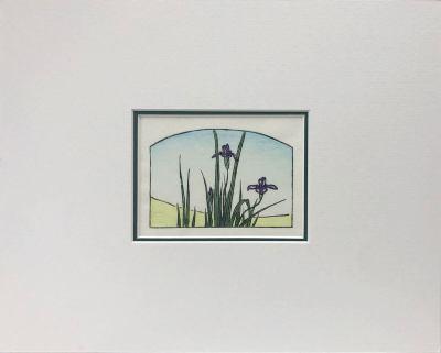 Hiroshige's Irises woodblock print