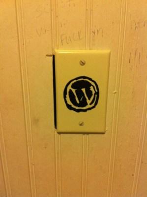 WordPress logo done with a sharpie