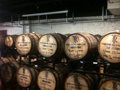 Rye barrels at Boulevard Brewery