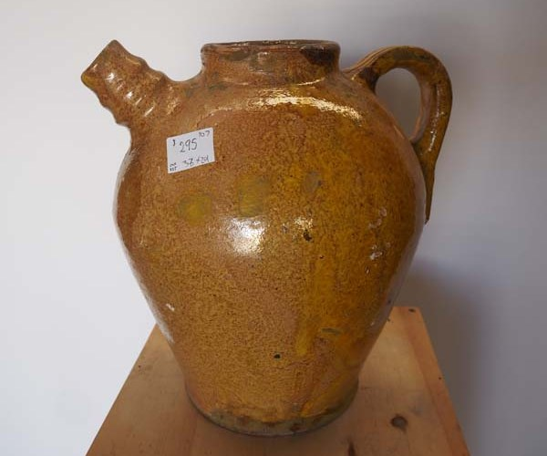 Yellow glazed water jar from Central Asia