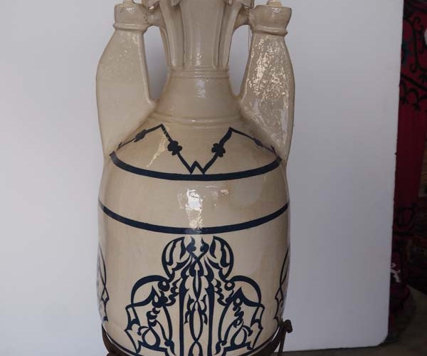 Art Nouveau Period Ceramic Turkish Vase from Kutahya, C.1910