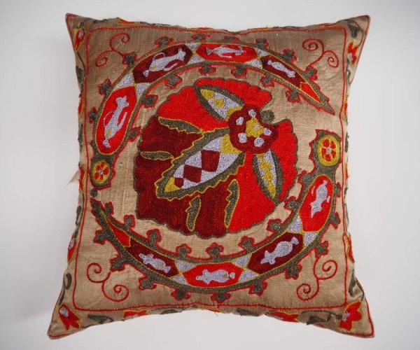 Silk on Silk Suzani Cushion