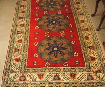 Wool Double Knotted Hand made Turkish carped from Kayseri Approximately 60 years old