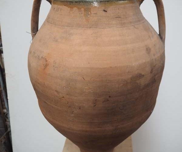 Green glazed ottoman period Terracotta pot from Anatolia