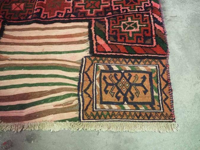 Iranian Baktiari (Kurdish) camel Bag using Kilim Cicm & Pile weaving. Approximately 80 years old