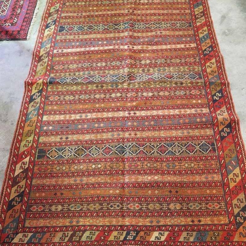 North west Persian ' Rahra' Warp Wrapped Kilim Wool on wool