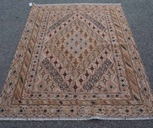 Finely Knotted Soumac, Warped wrapped kilim & pile carpet. Afghani Mushwani from Herat