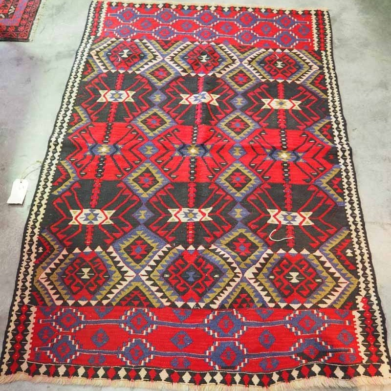 Turkish Wool Kilim from Van. ( Mosquito Design). Approximately 70 years old