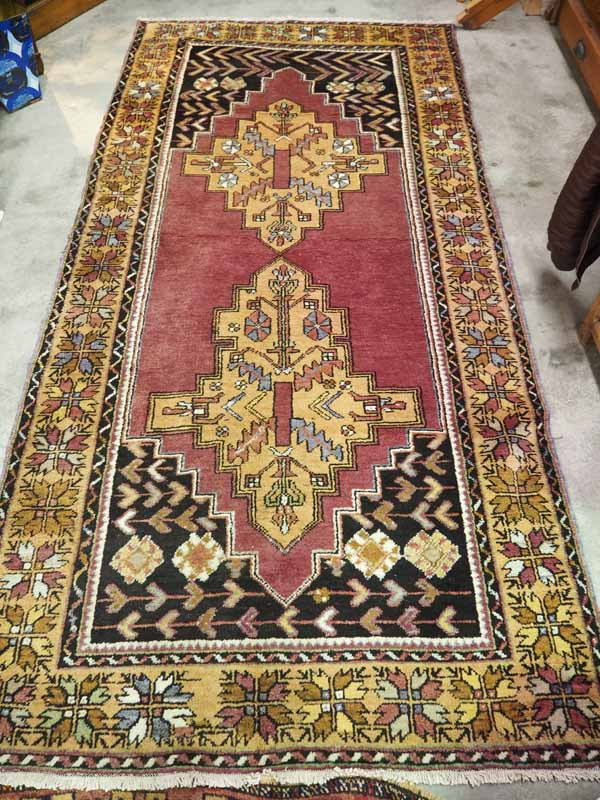 Ortakoy Rug Anatolia. Approximatley 70 years old