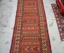North west Persian 'Soumac' Rahra Runner. Wool on wool hand knotted