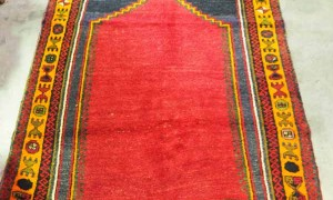 Very Rare double Niche prayer rug wool on wool hand knotted Kurdosh Malatyer ( vegetable dyes. Approximately 90 years old