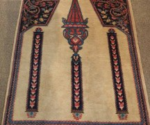 Finely knotted wool on wool Belouch carpet, Approximately 50 years old
