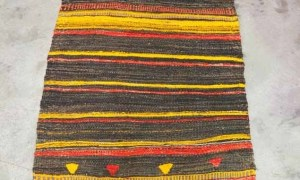 Hand made Turkish Kilim from Cal, Goat hair. Approximately 70 years old